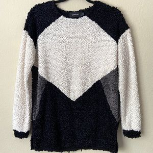 MINKPINK Colorblock Cozy Plush Sweater